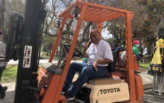 Rafael Oscal on Forklift